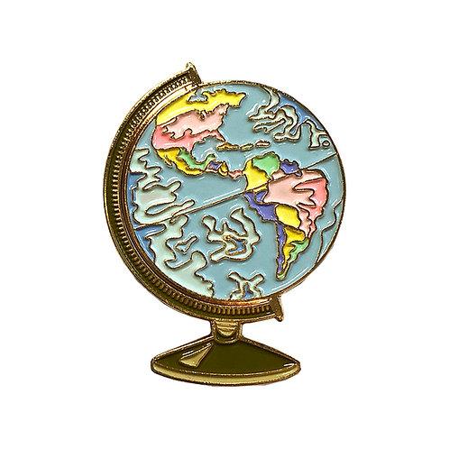 Globe Enamel Pin