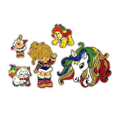 Rainbow Brite enamel pin set of 5