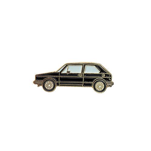 VW Golf Enamel Pin - Black