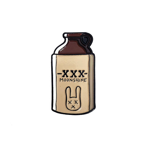 Dead Bunny Moonshine Whiskey Jug enamel pin