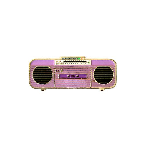 80s Purple Boombox Enamel Pin