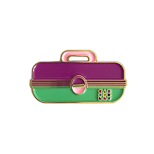 Caboodles Enamel Pin - Purple and Green