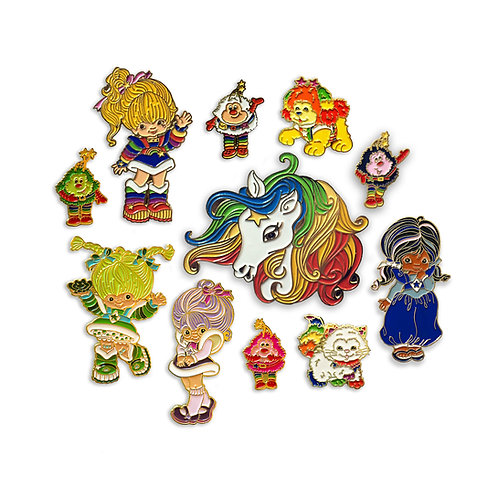 Rainbow Brite Enamel Pin Set of11