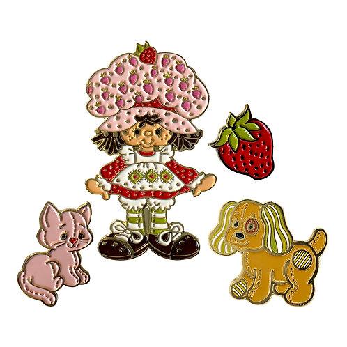 Strawberry Shortcake Enamel Pin Set of4