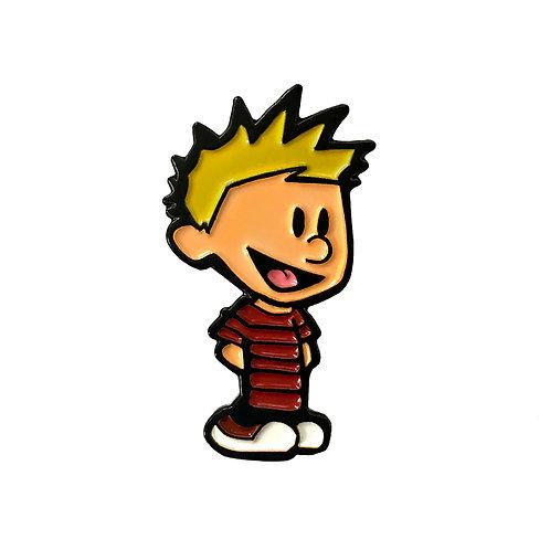 Calvin and Hobbes enamel pin