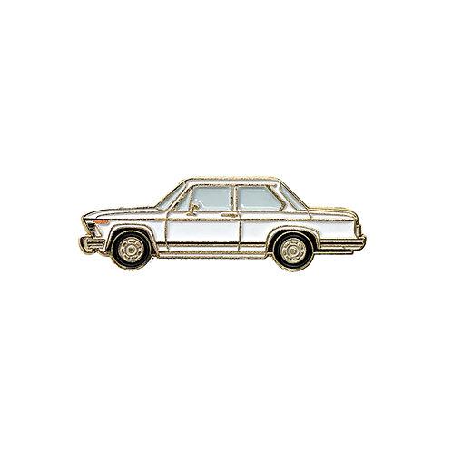 BMW 2002 Enamel Pin - White