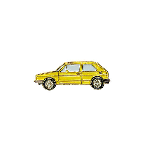 VW Golf Enamel Pin - Yellow