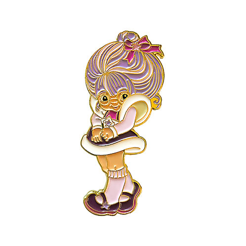 Rainbow Brite Shy Violet enamel pin
