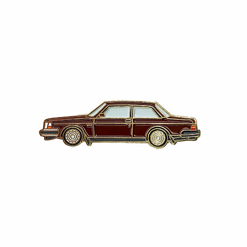 Volvo 240 Sedan Enamel Pin - Brown