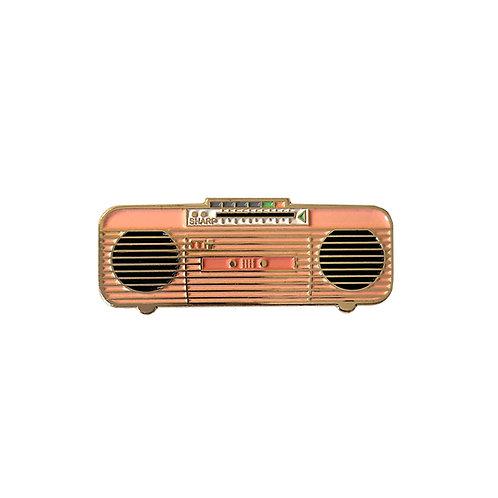 80s Pink Boombox Enamel Pin