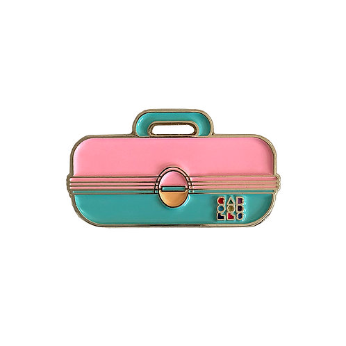 Caboodles Enamel Pin - Pink and Blue