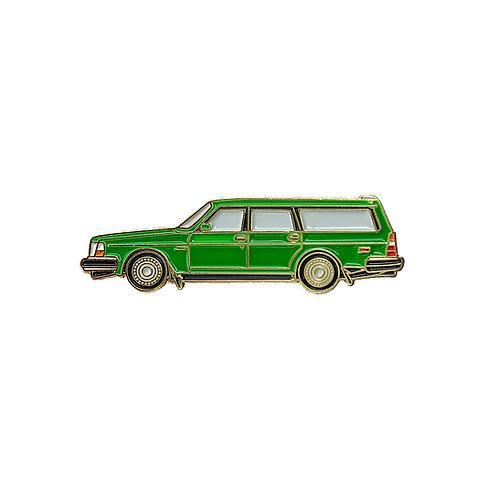 Volvo 240 Wagon Enamel Pin - Green