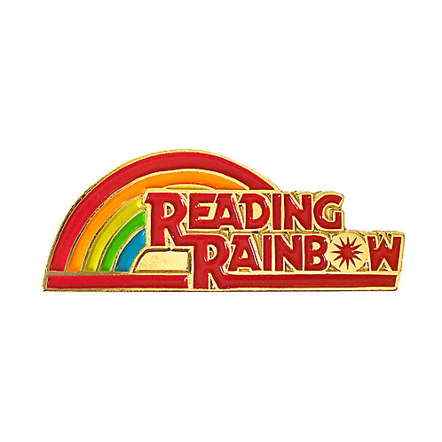 Reading Rainbow enamel pin