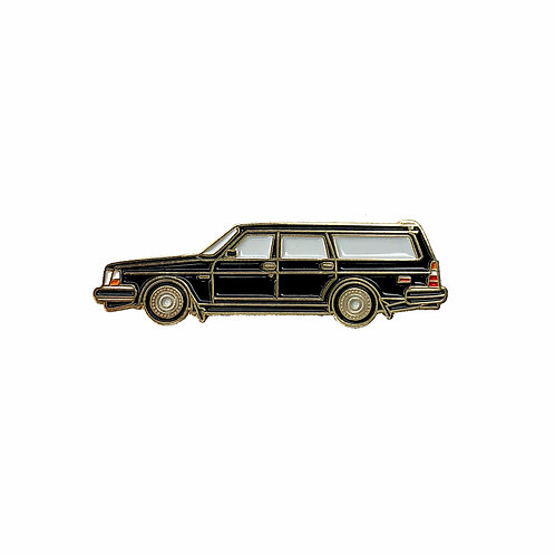 Volvo 240 Wagon Enamel Pin - Black