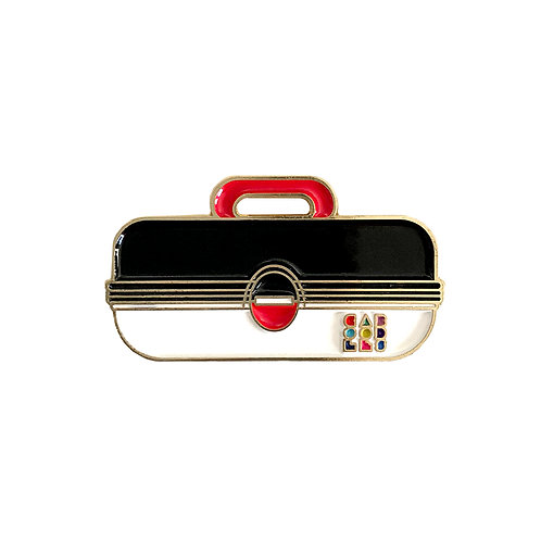 Caboodles Enamel Pin - Black and White