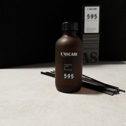 blend 595 diffuser. tobacco leaf, vetiver