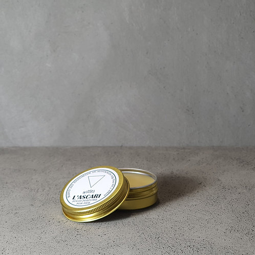 solid perfume. water