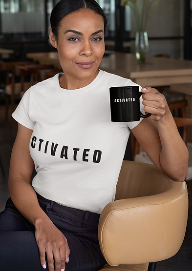 """White """"Activated"""" Tee"""