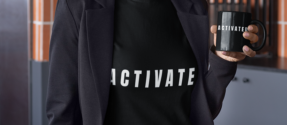 """Black """"Activated"""" Tee"""