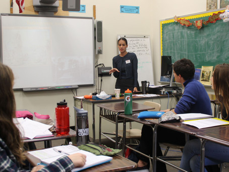 CKS Executive Director Does Outreach at Scarsdale High School, NY