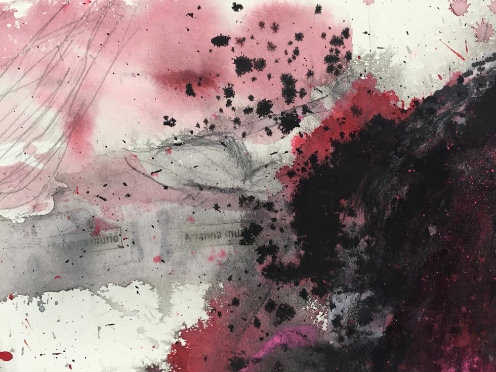 El Pelotazo, detail. stamp, ink, pencil, acrylic and pigment on paper, 2014