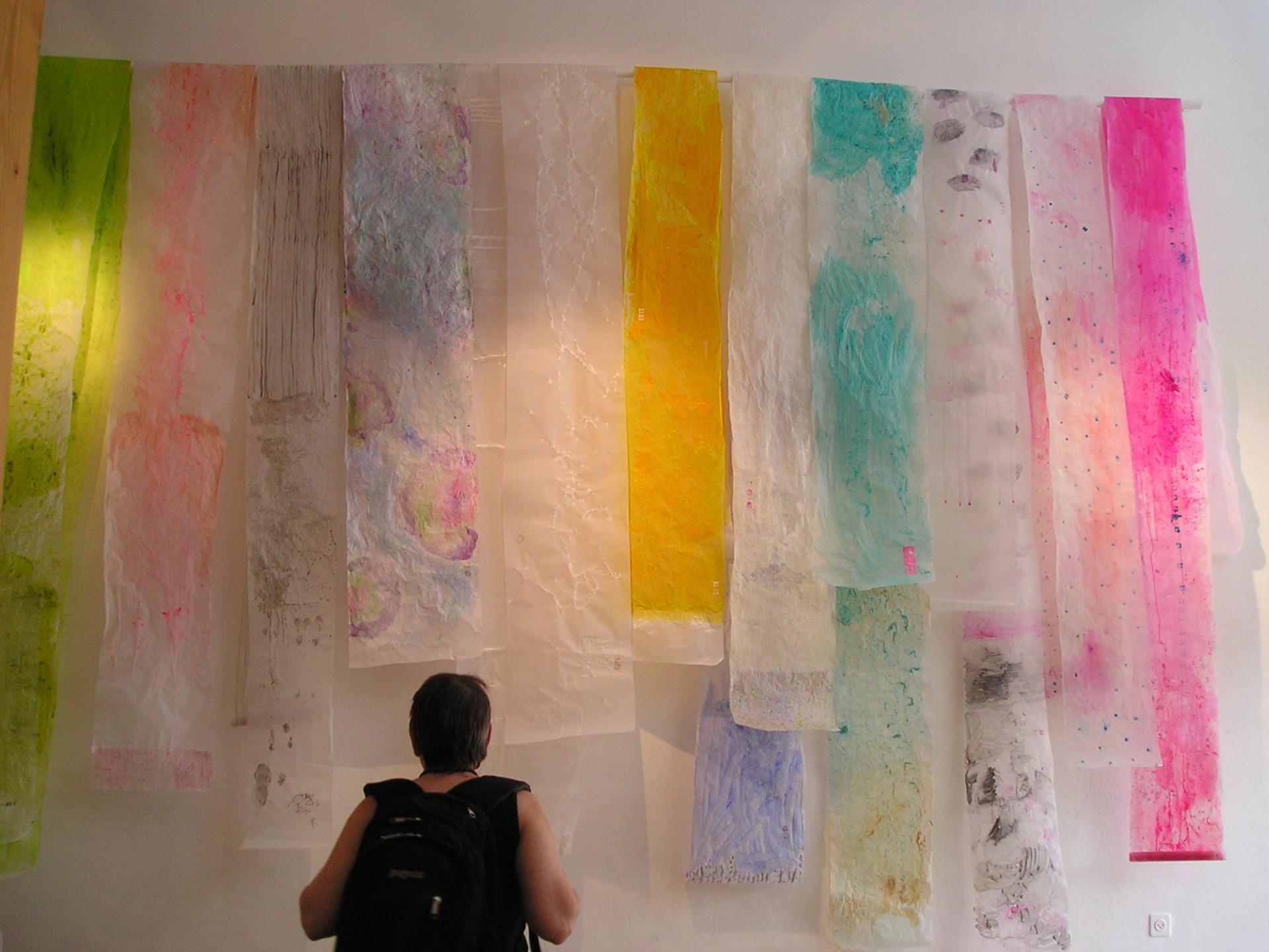 Japana-Drying Silks, Wall Installation