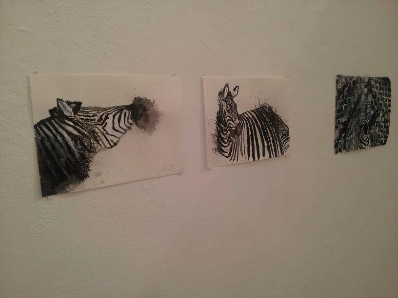 Zebras, installation view
