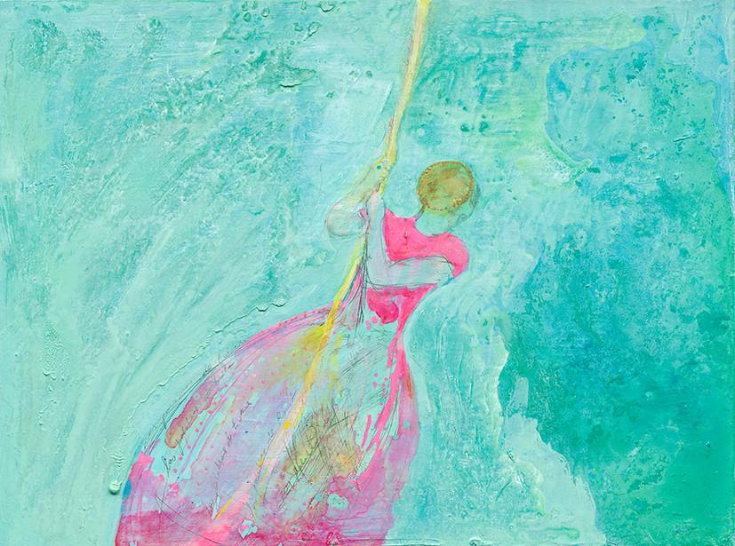 Las palabras de Yerahmiel, oil and gold on canvas, 2015