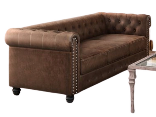 Chesterfield Brown Leater Sofa