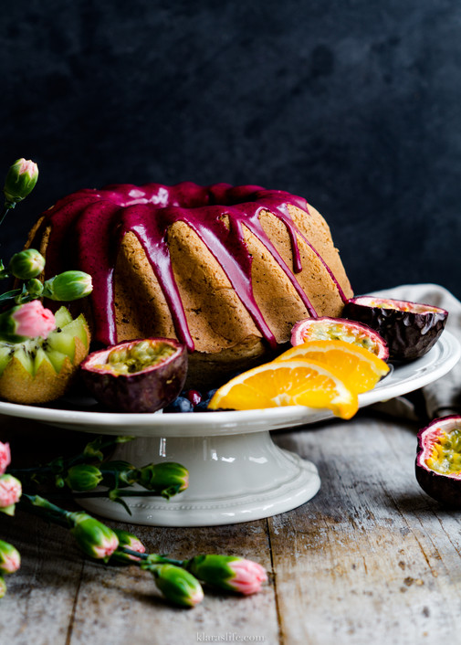 Blueberry Vanilla Bundt Cake