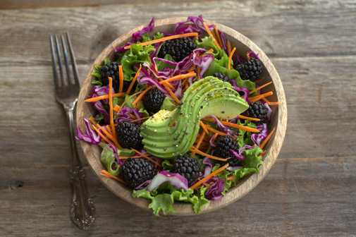 Blackberry Salad with Flax Dressing