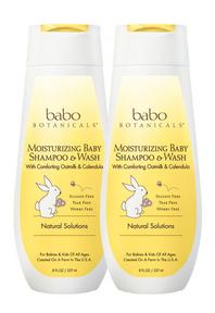 Babo Botanicals   Moisturizing Baby Shampoo and Wash Bundle