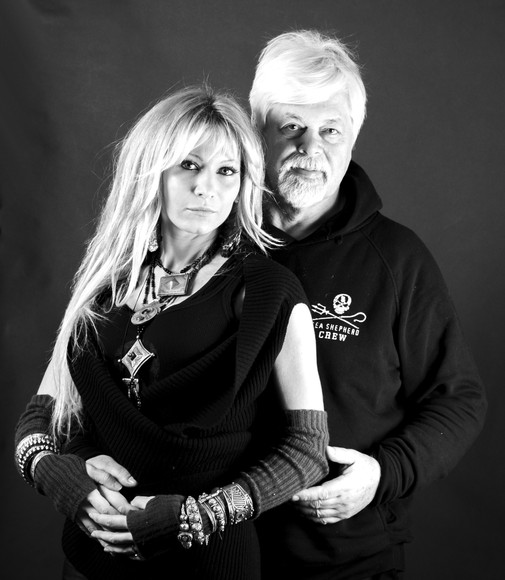 Captain Paul Watson + Yana Rusinovich of Sea Shepherd