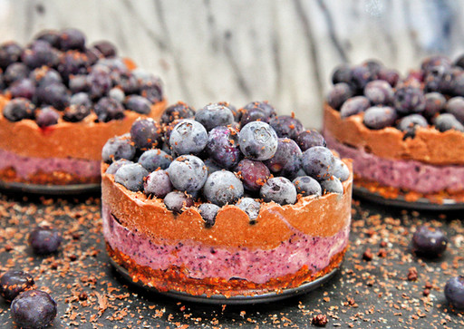 Vegan Chocolate Blueberry Cake