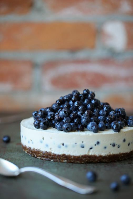Lemon + Blueberry Cheesecake