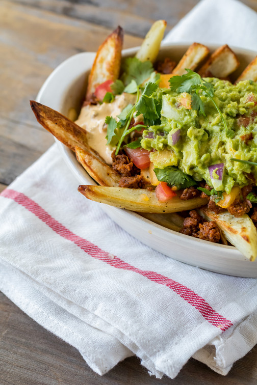 Mexican Cashew Queso & Fries
