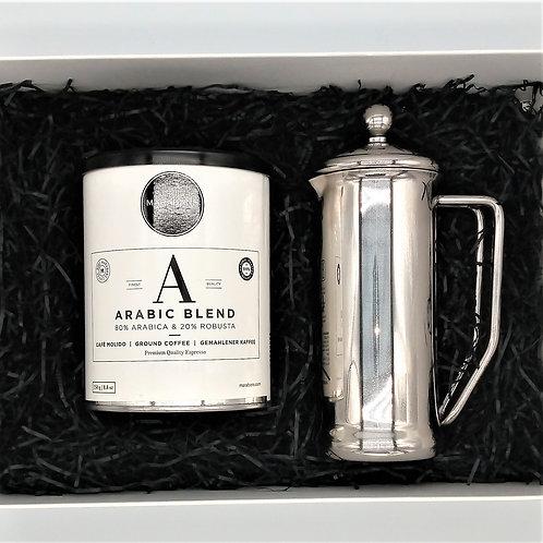 Marabans Gift Box - Arabic Blend Coffee & Cafetiere