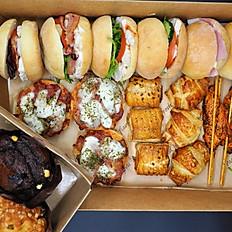 Gourmet Buffet - Stonebake Slider Rolls, 4 x Savoury Choices & Cakes