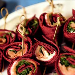 smoked salmon wrap pinwheels