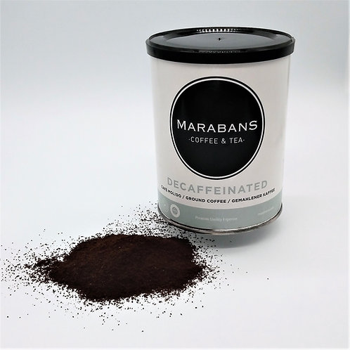 Marabans Decaffeinated 100% Arabica  Coffee Pre Ground 250g