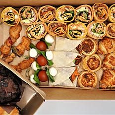 Ultimate Buffet - Tortilla Wraps, 5 x Savoury Choices & Cakes