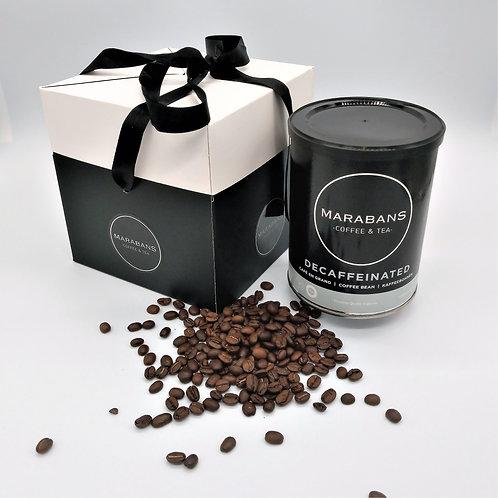 Marabans Decaffeinated Gift Box 100% Arabica  Coffee Beans 250g