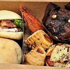 Box E - Stonebake Slider Rolls, 4 x Savoury Choices & Cakes