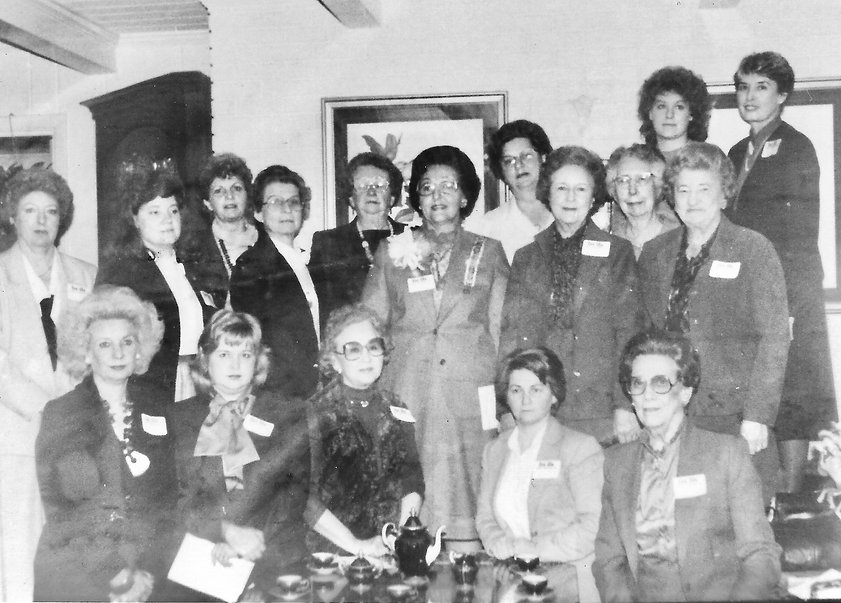 The charter meeting of the Tryon Resolves Chapter, NSDAR on February 1, 1985