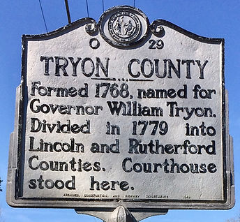 Tryon County, NC historic marker