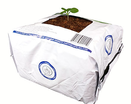4 gallon 75% coconut coir and 25% husk chip grow bag