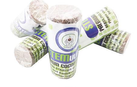 coconut coir seedling start mini disks is package