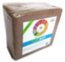 coconut coir 11 lb (5 kg) block - labeled
