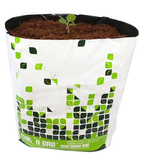 6 gallon 75% coconut coir and 25% husk chip grow bag