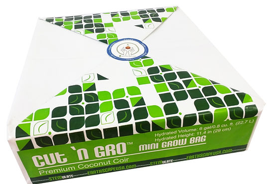 compressed coconut coir grow bag